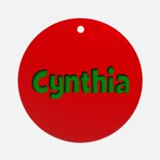 Cynthia Red and Green Ornament (Round)