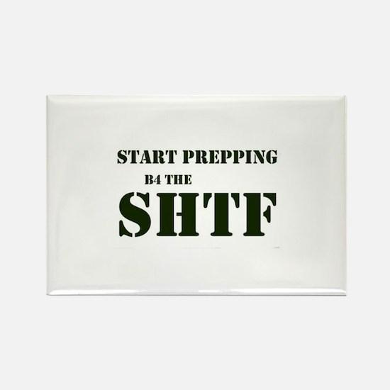 Start Prepping B4 the SHTF Rectangle Magnet