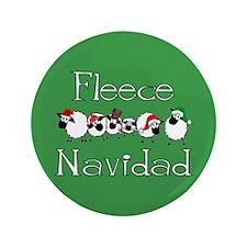 """Fleece Navidad 3.5"""" Button"""