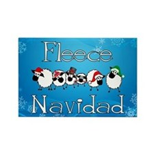 Fleece Navidad Rectangle Magnet