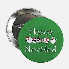 """Fleece Navidad 2.25"""" Button"""