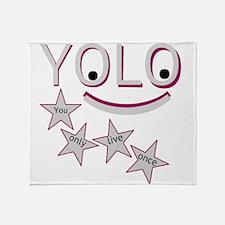 Happy Yolo Throw Blanket