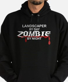 Landscaper by Day Zombie by Night Hoodie