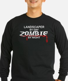 Landscaper by Day Zombie by Night T