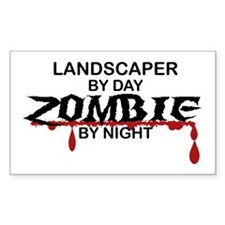 Landscaper by Day Zombie by Night Decal