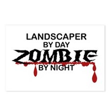 Landscaper by Day Zombie by Night Postcards (Packa