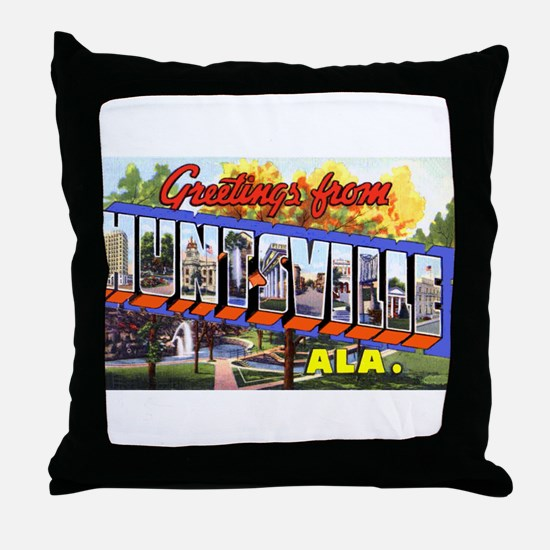 Huntsville Alabama Greetings Throw Pillow