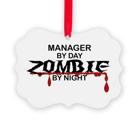 Manager Zombie Picture Ornament