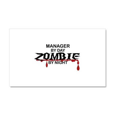 Manager Zombie Car Magnet 20 x 12