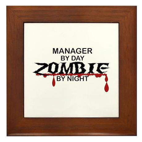 Manager Zombie Framed Tile