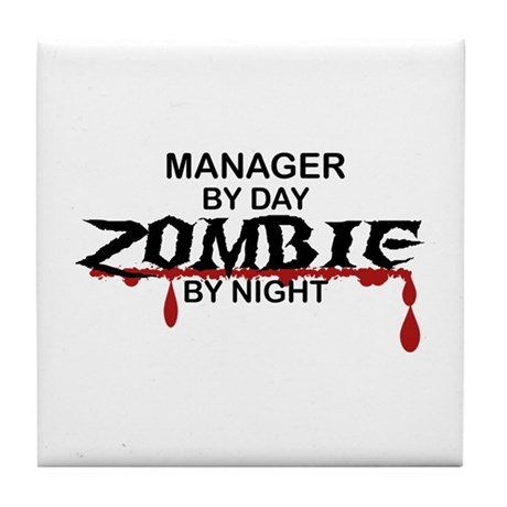 Manager Zombie Tile Coaster