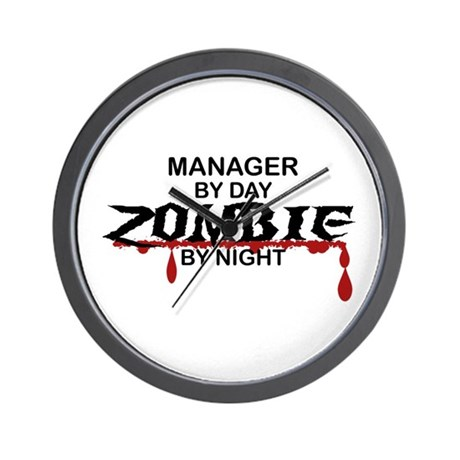 Manager Zombie Wall Clock