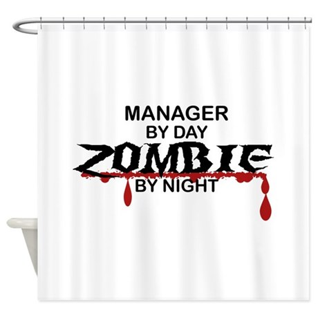 Manager Zombie Shower Curtain