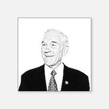 "Ron Paul Sketch Square Sticker 3"" x 3"""