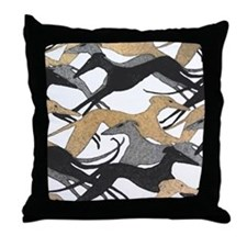 Leaping Fresco Hound Throw Pillow