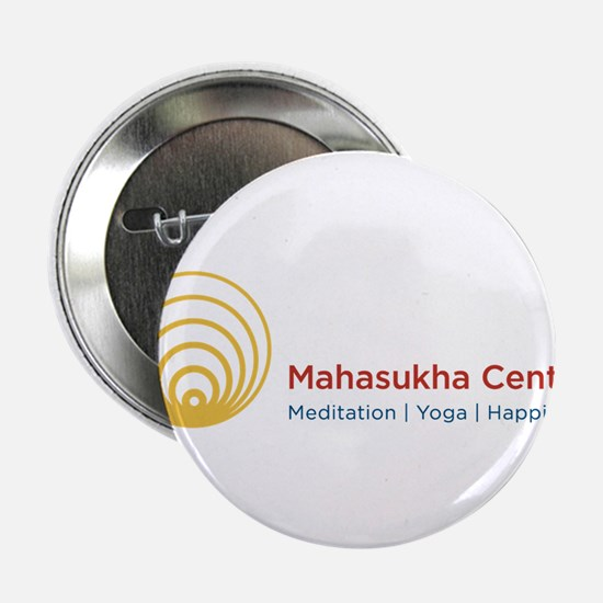"""Mahasukha Logo with Title 2.25"""" Button"""
