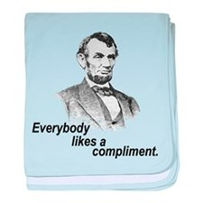 Everybody Likes a Compliment baby blanket