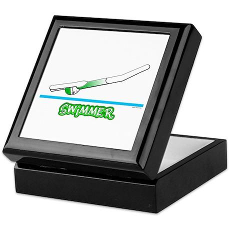Swimmer (Girl) Green Suit Keepsake Box