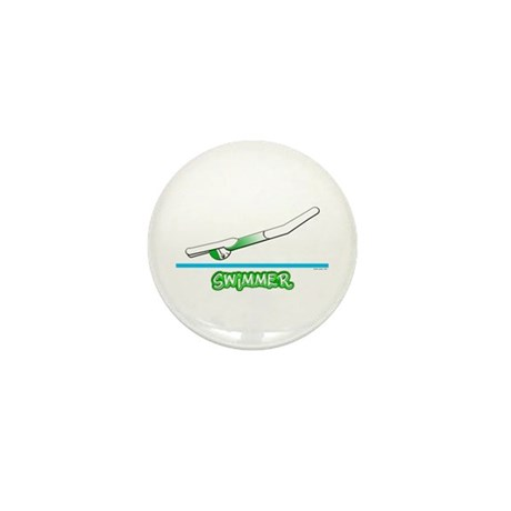Swimmer (Girl) Green Suit Mini Button (10 pack)