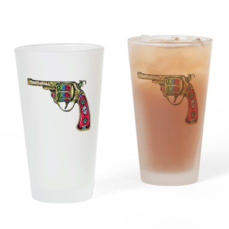 Tattooed Handgun Drinking Glass