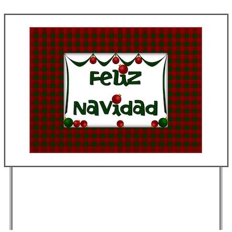 gifts christmas yard signs feliz navidad spanish christmas yard sign