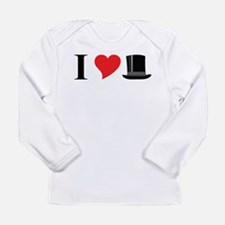 I Love Tophats Long Sleeve Infant T-Shirt