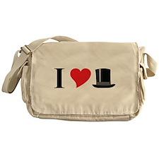 I Love Tophats Messenger Bag