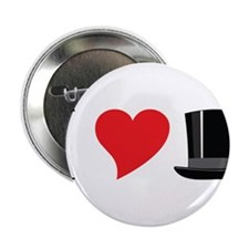 "I Love Tophats 2.25"" Button"