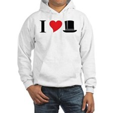 I Love Tophats Hoodie