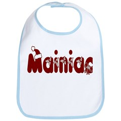 Christmas Mainiac Bib