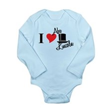 I Love Abe Lincoln Long Sleeve Infant Bodysuit