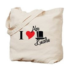 I Love Abe Lincoln Tote Bag