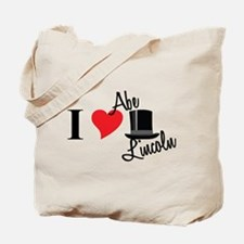 I Love Abe Lincoln Tote Bag