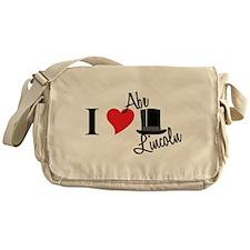 I Love Abe Lincoln Messenger Bag