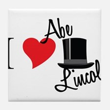 I Love Abe Lincoln Tile Coaster