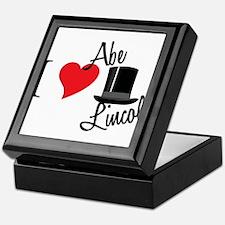 I Love Abe Lincoln Keepsake Box