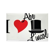 I Love Abe Lincoln Rectangle Magnet