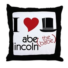 Abe The Babe Throw Pillow