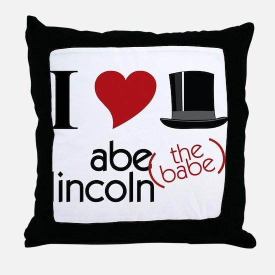 Abe The Babe Throw Pillow