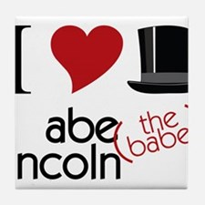 Abe The Babe Tile Coaster