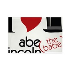 Abe The Babe Rectangle Magnet