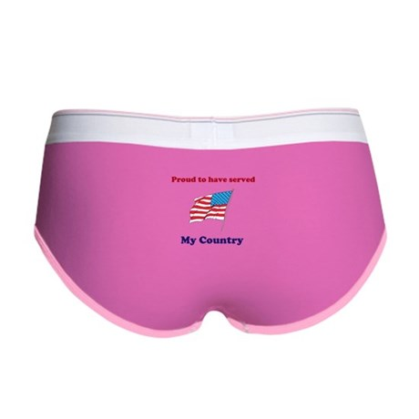 Proud to have served my Country Women's Boy Brief