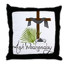Ash Wednesday Throw Pillow