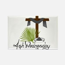Ash Wednesday Rectangle Magnet