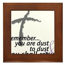 Dust To Dust Framed Tile