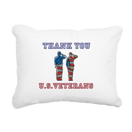 Thanks to our U.S. Vets Rectangular Canvas Pillow