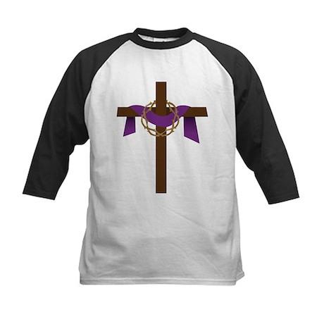 Season Of Lent Cross Kids Baseball Jersey