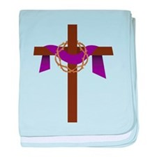 Season Of Lent Cross baby blanket