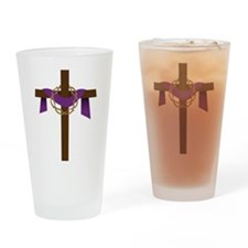 Season Of Lent Cross Drinking Glass