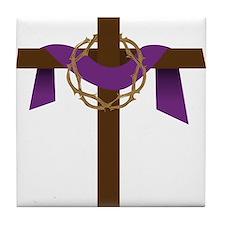 Season Of Lent Cross Tile Coaster